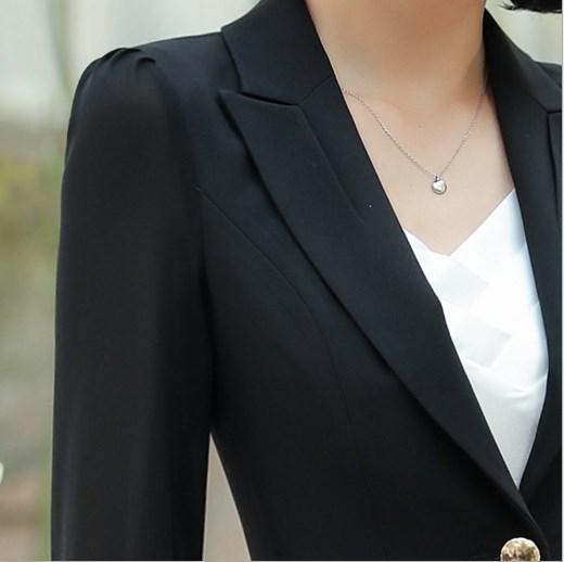 Business Women Pencil Pant Suits Summer 2 Piece Sets Black White Blazer+Pant Office Lady Notched Jacket Female Outfits 4XL 5XL