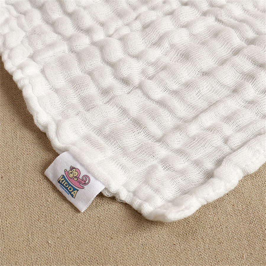 Baby Bath Towel Baby Towels Bath Gauze Washcloth 5 Pcs White Textile Solid Feeding Stuff Baby Face Feeding Infant 60A0189