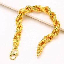 Витой браслет мужские ювелирные изделия желтый позолоченный