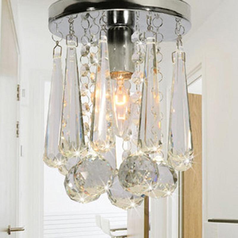 Modern minimalist creative k9 cognac color crystal ceiling lamp home decoration entrance corridor crystal ball E14 lighting lamp