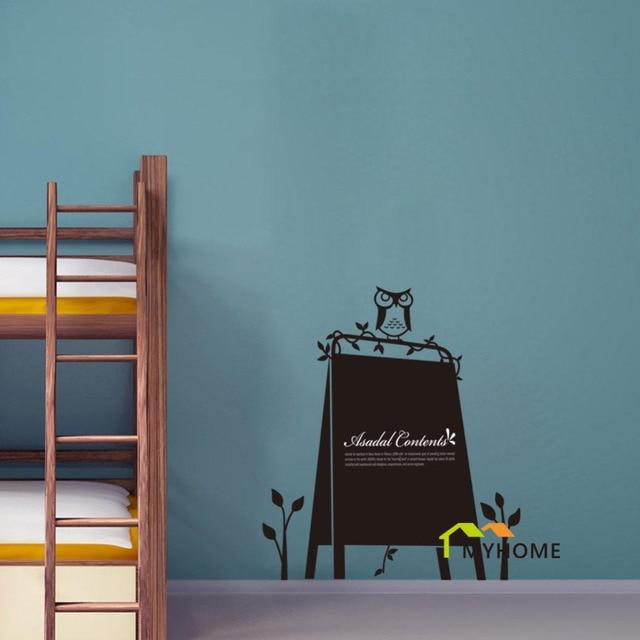 Personalized Vinyl Chalkboard Wall Stickers Owl Tree Blackboard - Custom vinyl wall decals for classrooms