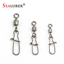 10pcs/lot Fishing lure Rolling Swivel with Nice Snap stainless steel fishing Accessories(China)