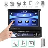 Car Radio Autoradio GPS Bluetooth Car Stereo 1 din 7HD Touch Screen Handsfree DVD FM USB SD MP5 Support Rear View Camera