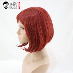 Image 3 - QC HSIU Yumeno Himiko Cosplay Wig New Danganronpa V3 Costume Play Wigs short red women wig Halloween Costumes Hair free shipping