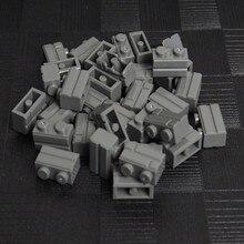 1000/750/500 PCS Dark สีเทาชิ้นส่วน Basic 1X2 MOC City House Wall Building Block อิฐการศึกษาของเล่นเด็ก