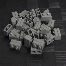 1000/750/500pcs Dark Gray Legoing Pieces Part Basic 1X2 MOC City House Wall building Block Bricks Educational children Toy