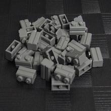 1000/750/500pcs Dark Gray Pieces Part Basic 1X2 MOC City House Wall building Block Bricks Educational children Toy