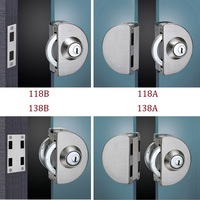 Stainless Steel Entry Gate 10 12mm Glass Door Lock Locks W Key Swing And Sliding Door