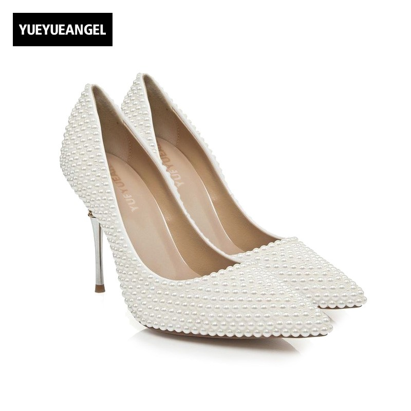 New Hot Sale Women Drees Shoes Comfortable Pointer Toe Leather For Women High Heel Shoes Wedding Pumps Bead Crystal Decoration hot sale new fashion luxury real leather women thick heel pumps flock mix color wedding shoes woman flock sexy elegant pumps