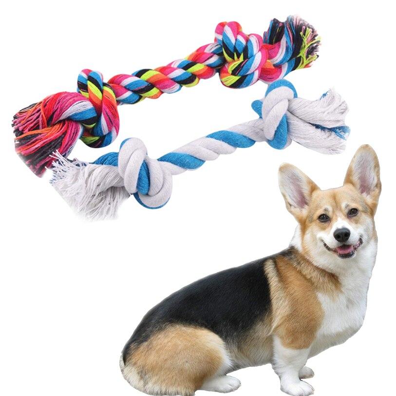 Игрушки для собак для маленьких больших собак 1 предмет 23 см/26 см Pet игрушки прочный хлопок плетеная веревка Щенок Чу игрушки Товары для соба...
