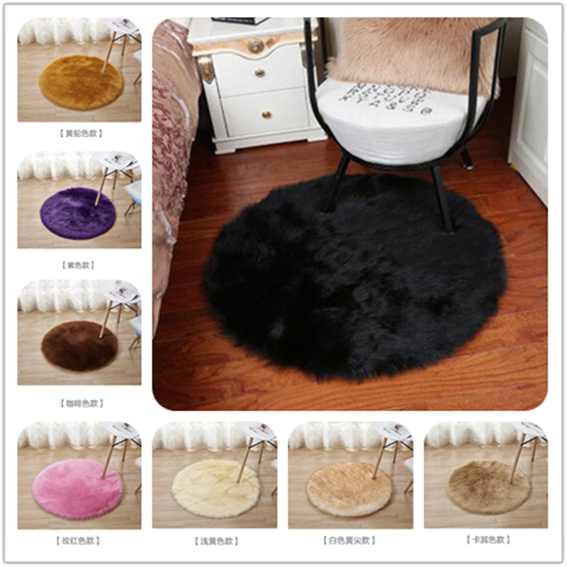 2020 Hot Sale Faux Sheepskin Wool Carpet 30/35 Cm Fluffy Soft Long Hair Decorative Carpet Cushion Chair Sofa Mat 15 Colors