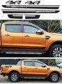 Envío gratis Gradiente raya lateral gráficos de vinilo pegatinas para Ford ranger 2012 2013 2014 etiqueta