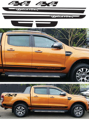 free shipping Gradient side stripe graphic Vinyl sticker for  Ford ranger 2012 2013 2014sticker