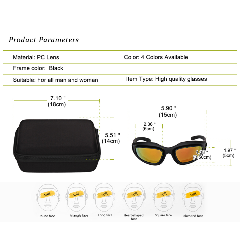 f5792f88725 Polarized 1 Set 5 lens Motorcycle Hunting Shooting Desert Storm Goggles  Airsoft Outdoor SunGlasses Riding Cycling Eyewear UV400 -in Motorcycle  Glasses from ...
