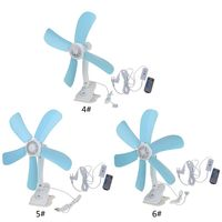 1PCS ABS Multifunction Electric Fan Mute Wall Hanging Clip Fans Foldable Holder Air Fan With Remote Control
