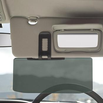 1 PC samochodów osłona przeciwsłoneczna Anti olśnić cieniowania lustro Auto Anti-Glare Clip-on tarcza osłony przeciwsłoneczne jazdy lustro wyraźny widok tanie i dobre opinie 308g Car Sun Visor careslong