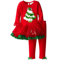 Autumn Winter Girl T Shirt Pants Set Christmas Children Clothing Next Girls Suit Casual Kids Clothes