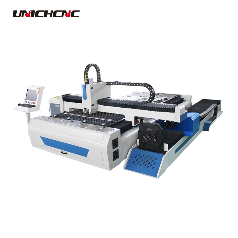 Hobby 1530 1325 1515 1545 cnc fiber metal sheet laser cutter machine with Rotary device