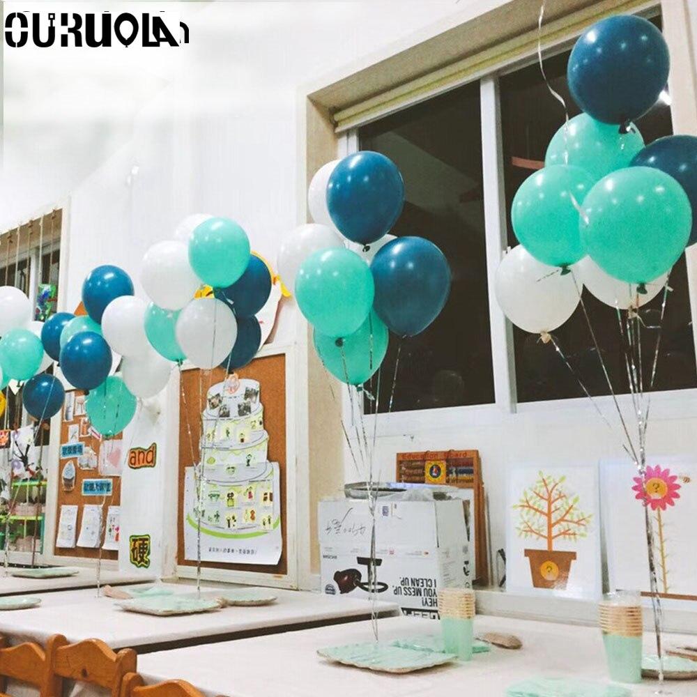 Balloon Decoration At Home: Baby Boy Balloon Party Air Balloons Globos Birthday Party