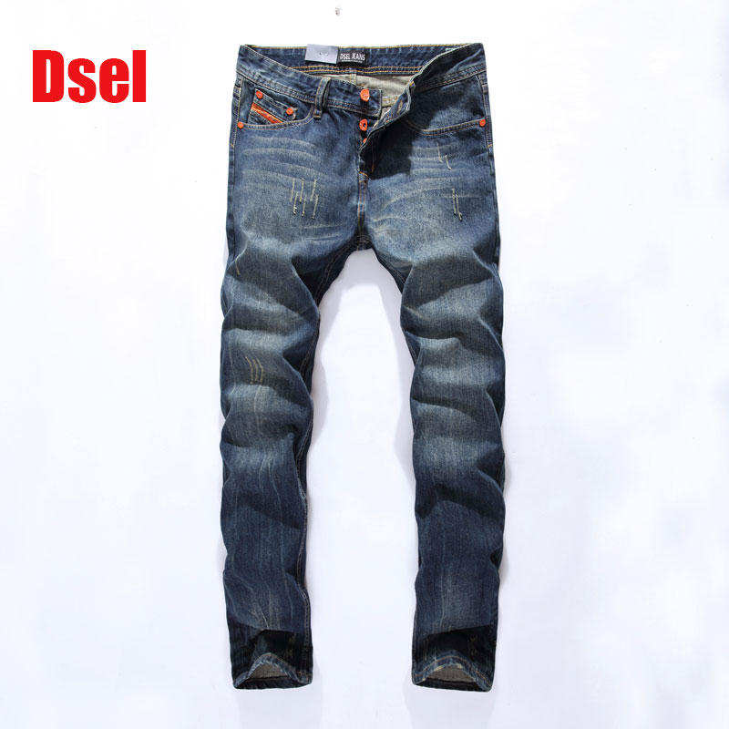 2017 High Quality Dsel Brand Men Jeans Fashion Designer Distressed Ripped Jeans Men Straight Fit Jeans Home,Size 29-40 2017 new original high quality dsel brand men jeans straight fit distressed ripped jeans for men dsel brand jeans home 604 a