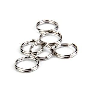 Image 2 - 200 teile/satz Schlüssel Ketten Swivel Verschluss Lanyard Snap Hool Karabinerverschluss Keychain Ring Trigger Snap Haken mit Split Ringe