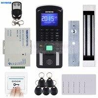 Diysecur tcp/ip USB отпечатков пальцев ID Card Reader пароль дверной Система контроля доступа + Питание + комплект магнитный замок