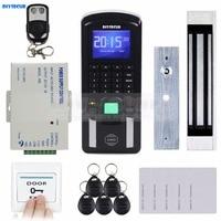 TCP IP USB Fingerprint ID Card Reader Password Keypad Door Access Control System Power Supply Magnetic