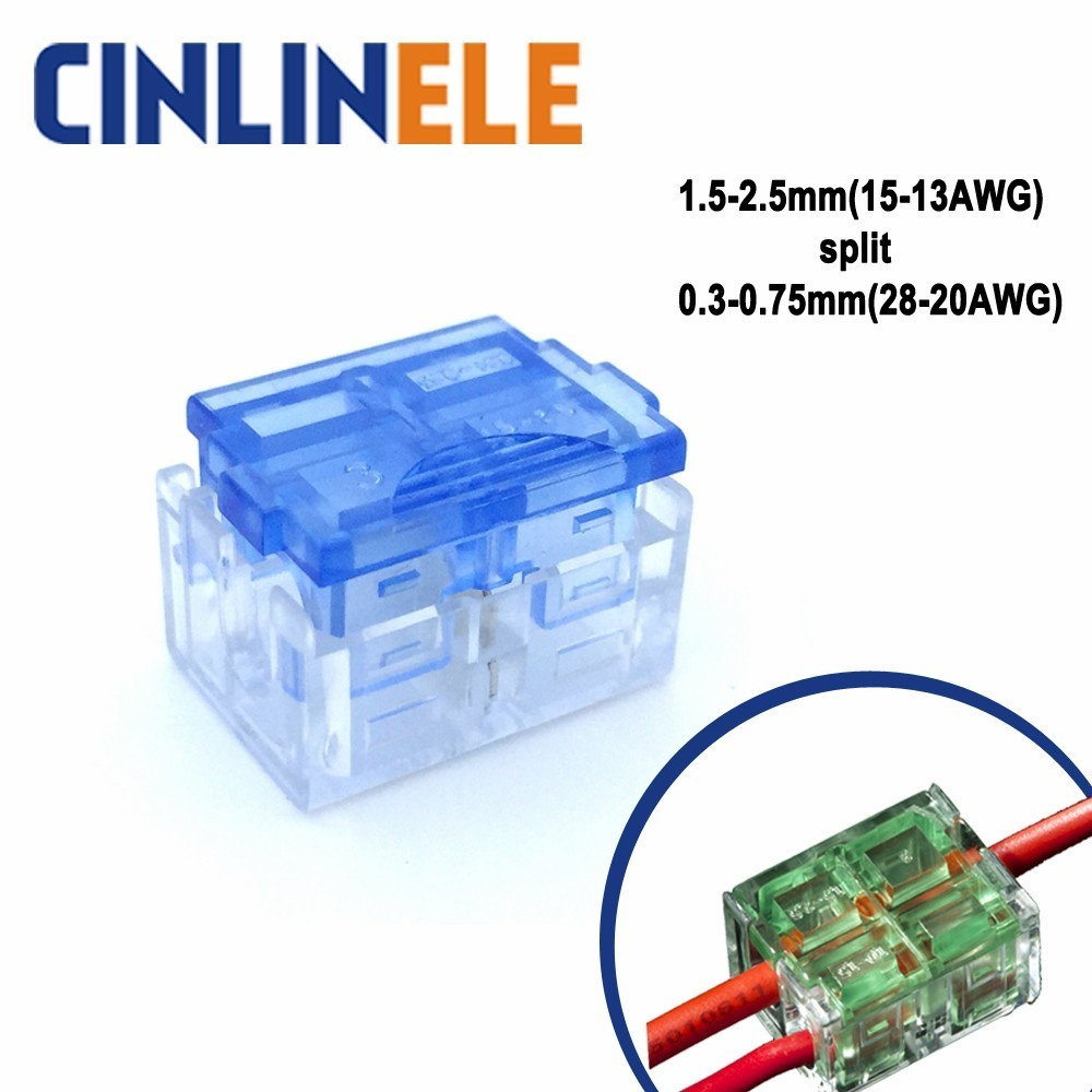 10PSC Quick Splice Wire Connector LED strip 1.5-2.5mm( 15-13AWG) Split 0.3-0.75mm(28-20AWG) Terminal Wago  Junction box natura siberica tuva био крем для тела увлажняющий 300 мл