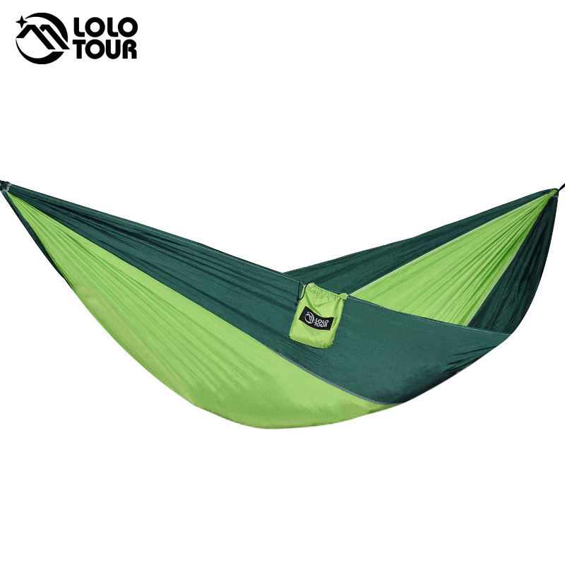 Outdoors Portable Camping Parachute Sleeping Double Hammock Garden Swing Hamac Hanging Chair Flyknit Hamaca Rede Amaca DC12 thicken canvas single camping hammock outdoors durable breathable 280x80cm hammocks like parachute for traveling bushwalking