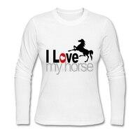 Gorąca Sprzedaż kobiet Rocznika t shirty Kocham Moją Jazda Nowy marka Tee Topy Jesień Zima z Długim Rękawem t-shirty dla Kobiet Oraz rozmiar