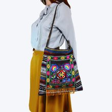 d367c62ba433 Free shipping Vintage Hmong Tribal Ethnic Thai Boho shoulder messenger  cross body bag linen handmade embroidery Tapestry 1009A