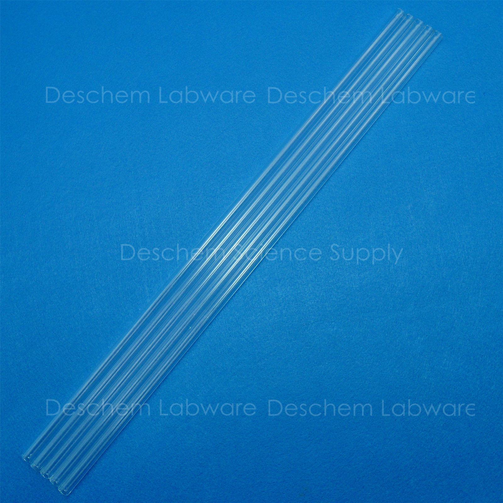 5PCS 300mm,Quartz Glass Tube,OD=10mm,Thcik=1.5mm,Made Form