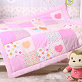 100% cotton baby quilt 115*115cm autumn winter bedding blanket pink blue boys girls newborn quilt nursery school quilt children