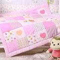 100% do bebê do algodão colcha de 115*115 centímetros outono inverno das meninas dos meninos recém-nascidos cobertor rosa azul bedding quilt nursery school quilt crianças
