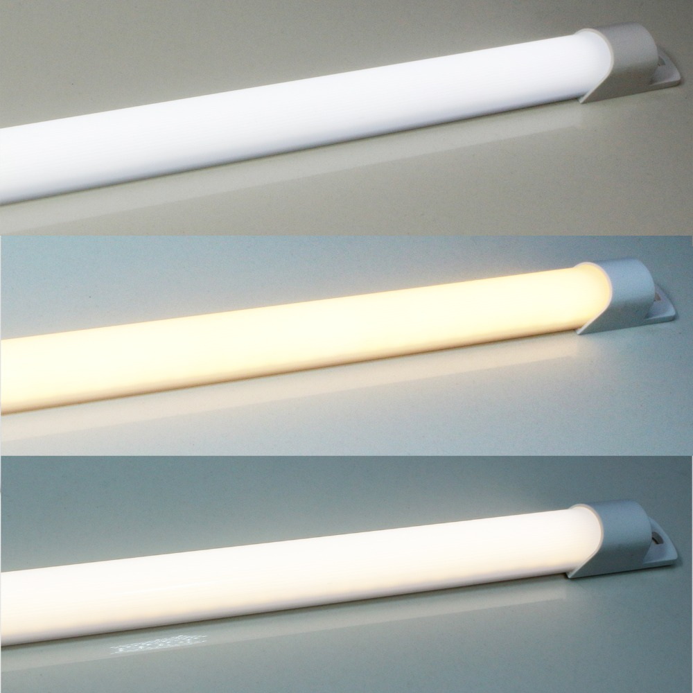 CréAtif 50 Cm Ac Plug Led Sous Armoire Veilleuse Bicolore Commutable 220 V Rigide Bande Bar Lumière Pour Cuisine Bureau Mur éclairage