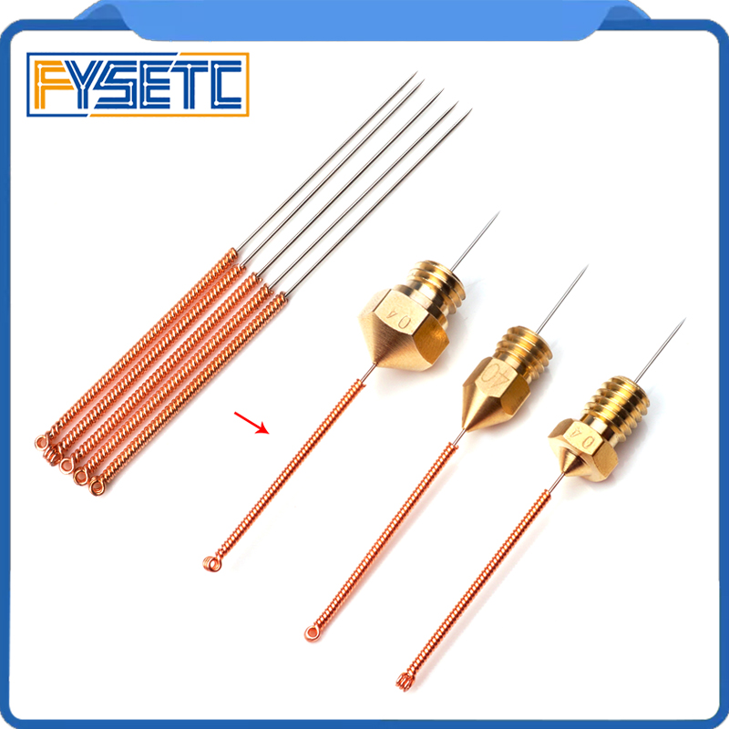 10pcs 3D Printer Accessories Tool Bendable Drill Bit 0.3x25mm/0.4x25mm For Cleaning Of 3D Printer Hotend 0.4mm Nozzle