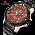 2016 Top Marca NAVIFORCE Moda Masculina Aço Completa Relógios Quartz Hour Data dos homens Relógio Masculino Militar Do Exército de Pulso À Prova D' Água relógio