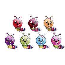 50 шт разноцветных случайных мешков гусениц в форме животных деревянные пуговицы для детской одежды Швейные аксессуары для художественного оформления