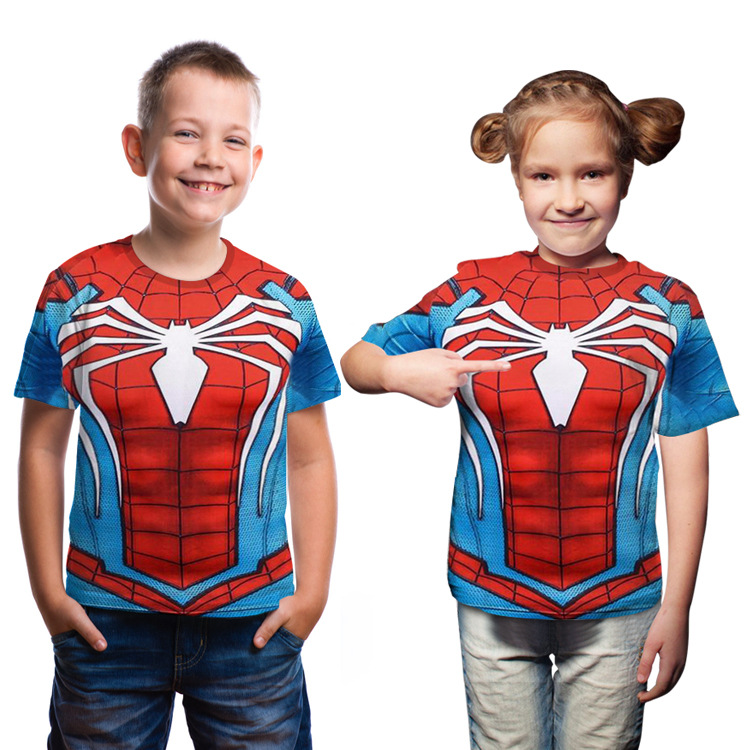 boy's-t-shirt-children's-clothes-kid's-t-shirt-for-boys-summer-font-b-marvel-b-font-spider-man-fashion-short-sleeves-unisex-boy's-girl's-tops