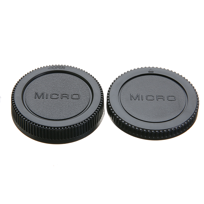 Mayitr 1pc Front & Rear Lens Caps Replacement Camera Lens Cover for Olympus M4/3 Camera Body and Lens camera lens cover