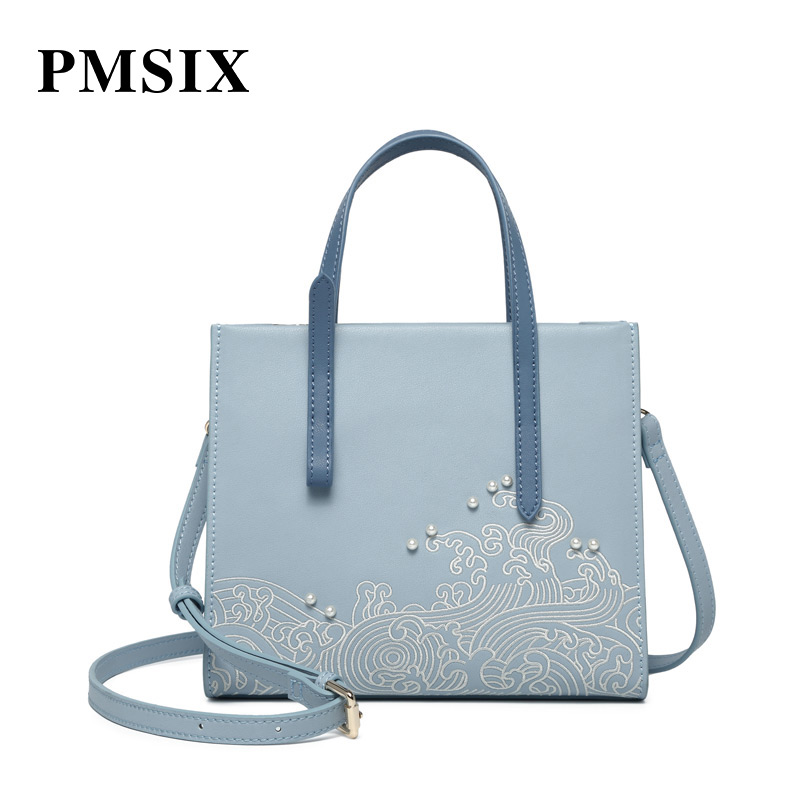 PMSIX Simple casual fashion Embroidery Flowers Handbags clutch classic bags women famous brands elsie mochrie simple embroidery