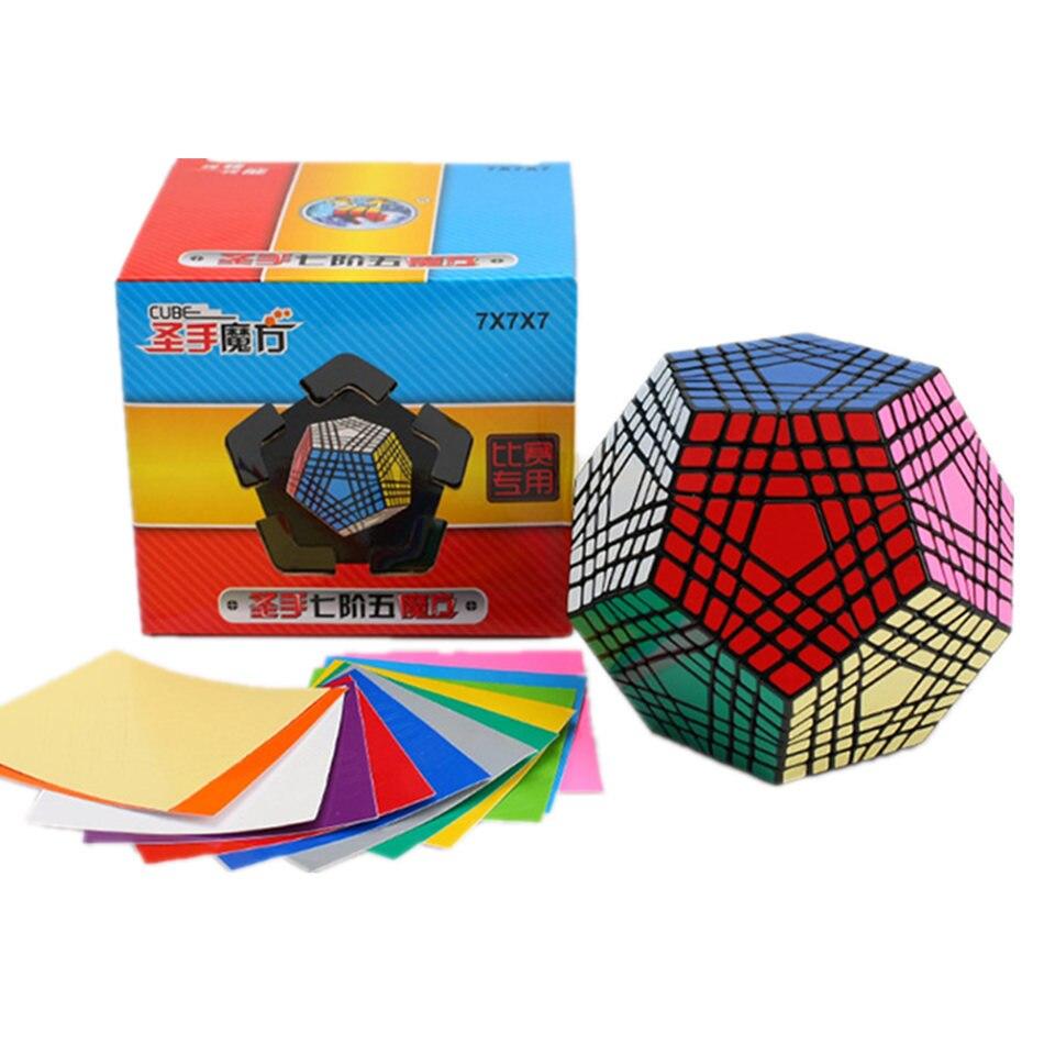 Cube Shengshou Teraminx 7x7 Megaminx Cube magique 7 couches Cubes Megaminx professionnels Puzzle jouets pour enfants jouet cadeau