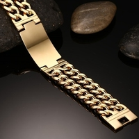 DOYUBO Hot Sale Men Titanium Steel Bracelets Gold / Silver Color Male Stainless Steel Punk Links Bangle & Bracelet Jewelry DD012