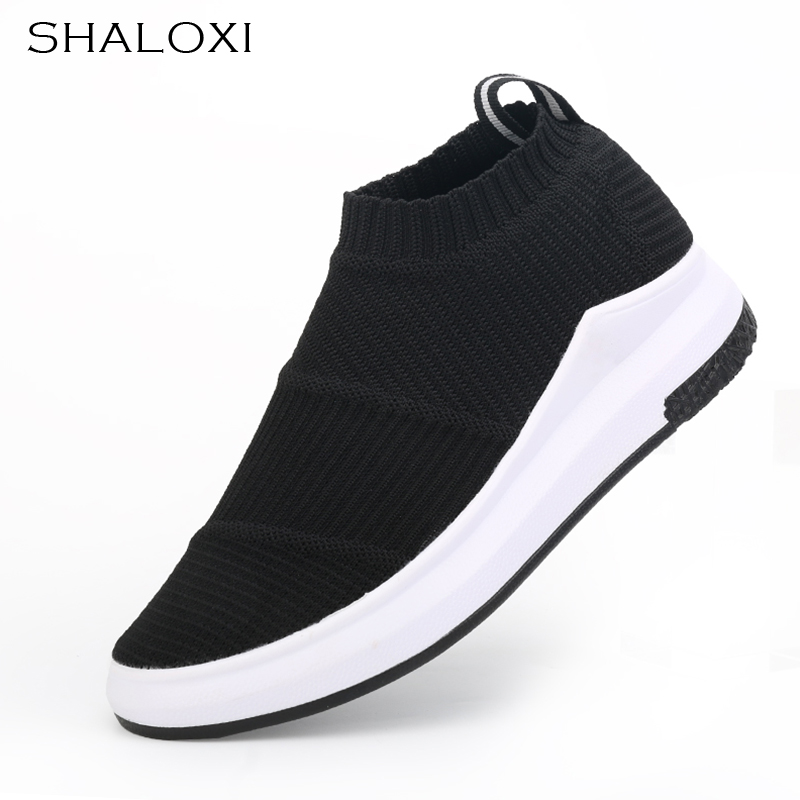 SHALOXI Spring Summer New Breathable Women Shoes Mech Flat New Style Casual Outdoor Fashion Soft Black Women Shoes Hot Sales A77  fashion womens casual shoes 2017 spring summer breathable women canvas shoes brand soft thick sole classic black white th085