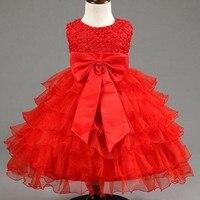 Koronki flower girl dress fairy princess tutu sukienka wakacje urodziny chrzest dziewczyna ubrania tutu sukienka