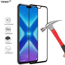 Protective Glass on the for Huawei Honor 8X 8A 8C Full Cover Tempered Screen Protector Foil