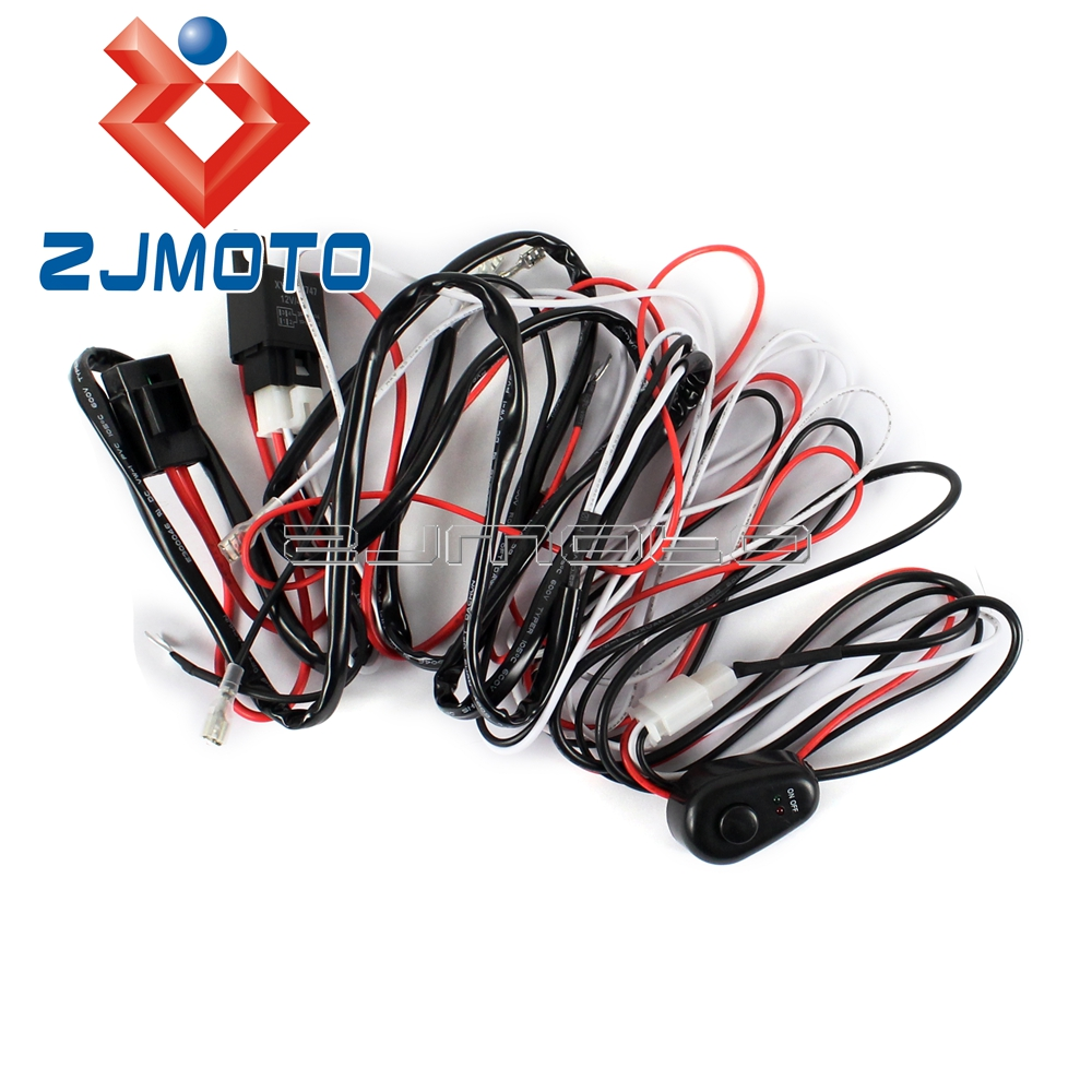 us $8 55 5% off universal motorcycle loom harness kit fog light driving working light wiring harness holder switch wire in covers \u0026 ornamental Hitch Wiring Harness Holder