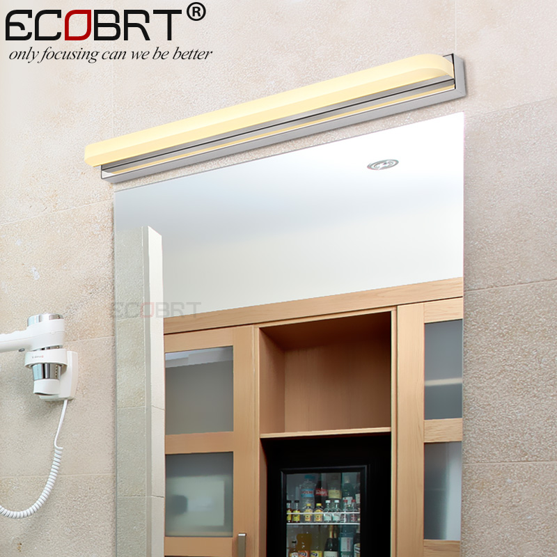 Bathroom Lighting Manufacturers: Modern 62-92cm long LED Bathroom Lights Mirror Wall Mounted Stainless Steel  Decoration led Bar lamps With Optional Switch,Lighting