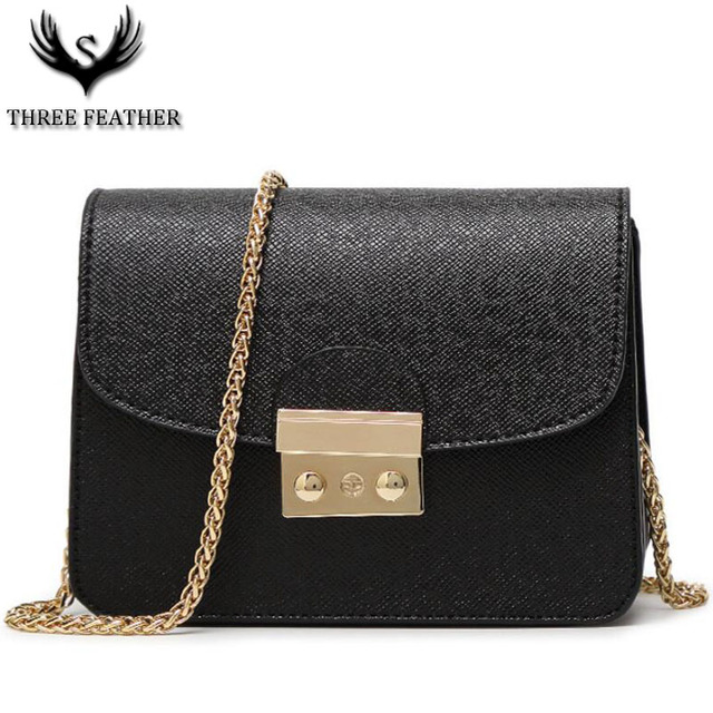 Three Feather Vogue Western Style Female Mujer Chain Single Shoulder Bag Women S Fashion Cross Body Purse