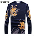 2016  Hot  sale  autumn High quality New  arrival Fashion   Men 's  Sweate  knit  thin  v-Neck Long Sleeve T6159